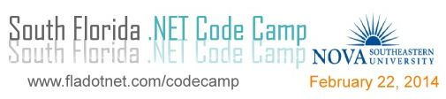 South Florida .NET Code Camp 2014 – Feb 22