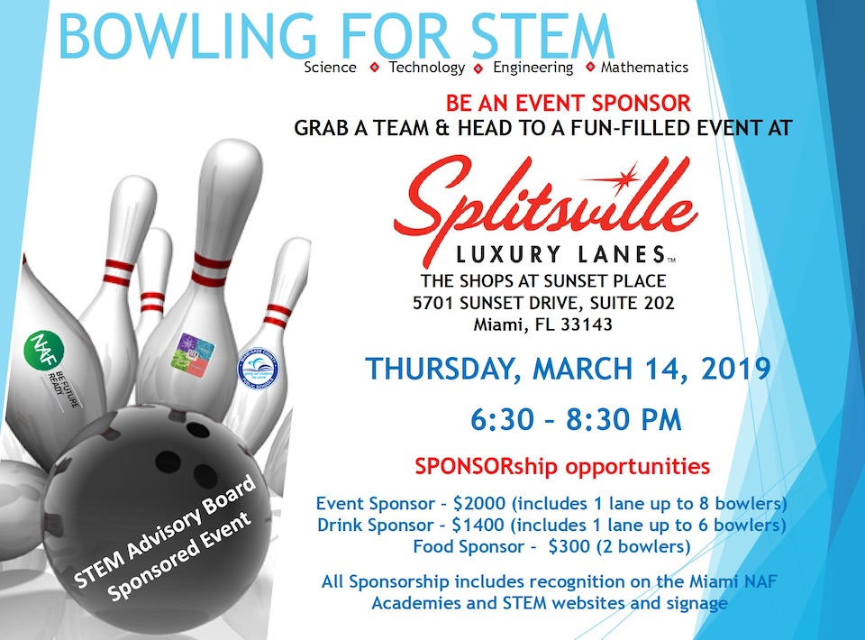 """Call for Sponsors and Bowlers """"Bowling for STEM, Make a Strike today for our kids!"""""""