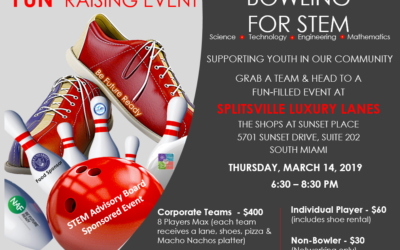"""Call for Sponsors and Bowlers """"Bowling for STEM, Make a Strike today for our kids!"""" Mar 14"""