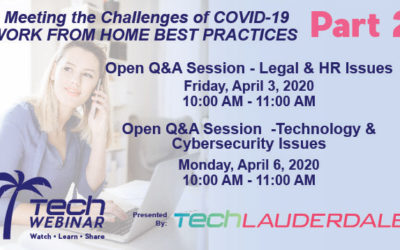 TechLauderdale Webinar Series Part 2 – Apr 3 & 6