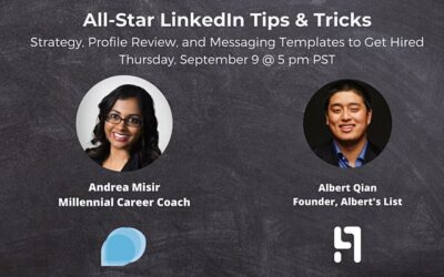 📩 All-Star LinkedIn Tips & Tricks Workshop to Get Hired, Grow Your Career – Sep 9
